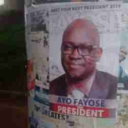 2019: Fayose's Campaign Posters Flood Abuja (Photos)